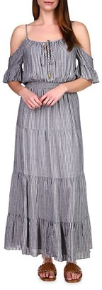 MICHAEL Michael Kors Lurex Stripe Maxi Dress