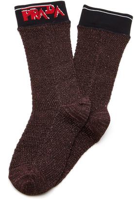 Prada Logo Lurex Socks