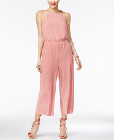 Ultra Flirt Juniors' Pleated Culotte Jumpsuit