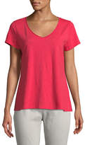 Eileen Fisher Slubby Organic Cotton V-Neck Tee