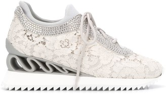 Le Silla Avena lace wedge-sole trainers