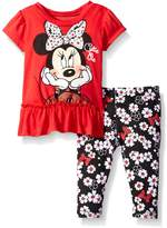 Disney Baby Minnie Mouse Legging Set with Fashion Top