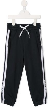 MSGM Kids side stripe track pants