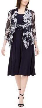Jessica Howard Petite Midi Dress & Floral Jacket