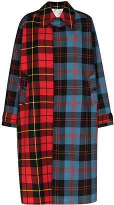 Charles Jeffrey Loverboy x Browns 50 tartan-check oversized coat