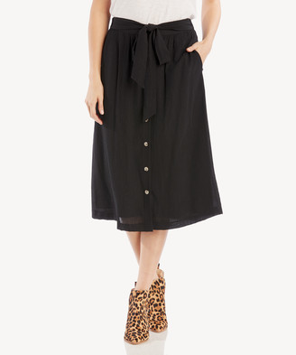 Sole Society The Good Jane Women's Starless Sammie Midi Skirt In Color: Black Size XS From
