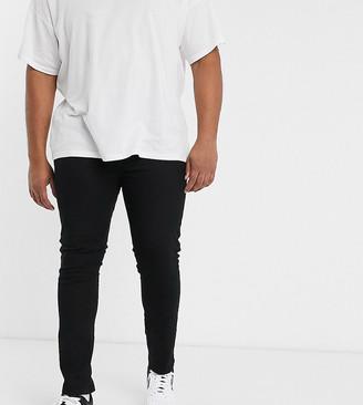 Burton Menswear Big & Tall skinny jeans in black