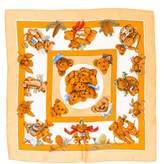 Hermes Confidents Des Coeurs Silk Pocket Square