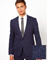 Asos Skinny Fit Suit Jacket In Fleck