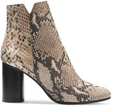 Maje Snake-Effect Leather Ankle Boots