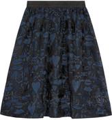 Markus Lupfer Zophia embroidered silk-tulle skirt