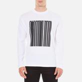Alexander Wang Barcode Logo Long Sleeve Tshirt - White