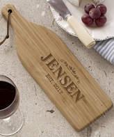 Wine Bottle Personalized Bamboo Cutting Board