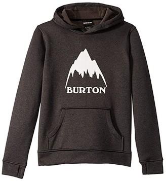 Burton Oak Pullover Hoodie (Little Kids/Big Kids) (True Black Heather 1) Boy's Sweatshirt