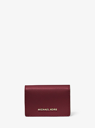 Michael Kors Small Two-Tone Crossgrain Leather Wallet