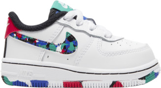 Nike Force 1 Low Basketball Shoes - White / Hyper Blue