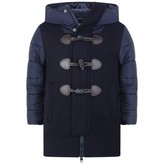Pepe Jeans Boys Navy Wool Duffle Coat With Padded Sleeves