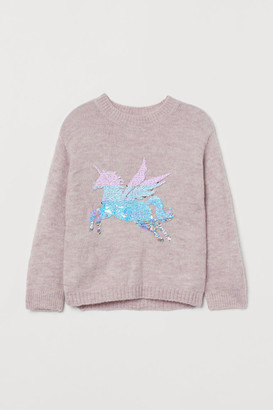 H&M Sweater with Sequins - Pink