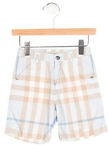 Burberry Boys' Exploded Check Flat Front Shorts