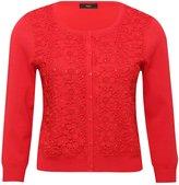 M&Co Crochet lace diamante cardigan