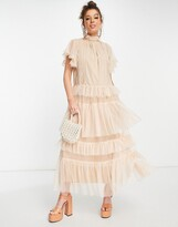 Thumbnail for your product : Forever U tiered midaxi dress in blush