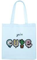 Forever 21 FOREVER 21+ Youre Cute Graphic Tote Bag