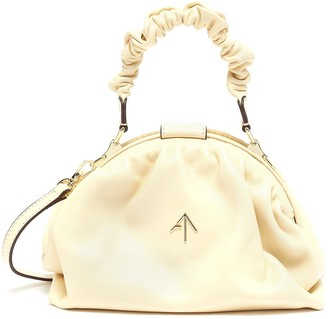 MANU Atelier Ruched Demi' top handle leather bag
