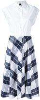 I'M Isola Marras plaid flared shirt dress - women - Cotton - 40