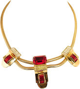 One Kings Lane Vintage Corocraft Ruby Crystal Necklace