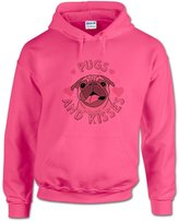 BANG TIDY CLOTHING Men's Pugs and Kisses Hoodie XL