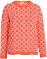 Stefanel Top With Two-Tone Diamond Pattern