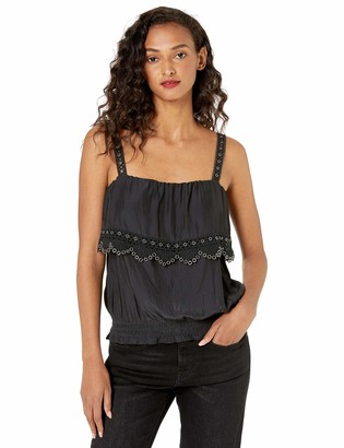 Ramy Brook Women's Eleanor Cropped TOP with Grommet Detail