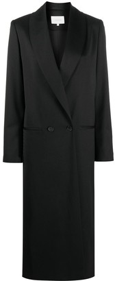 LA COLLECTION Adeline double-breasted long wool coat