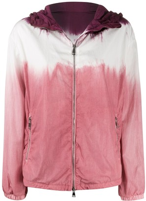 Moncler Tie-Dye Print Hooded Jacket