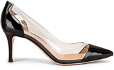 Gianvito Rossi Plexi Heels in Black & Transparent | FWRD