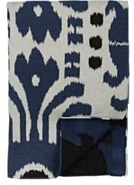 Madeline Weinrib Bara Ikat Throw-BLUE