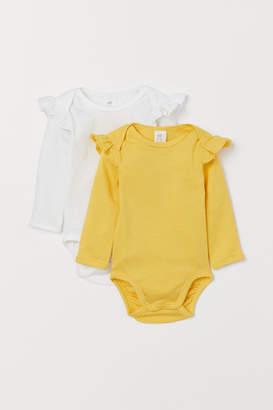 H&M 2-pack frilled bodysuits
