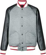 Mostly Heard Rarely Seen varsity bomber jacket