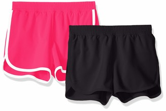 Amazon Essentials 2-pack Active Running Short Black/Raspberry 2T
