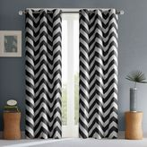 Intelligent Design Libra Room-Darkening Grommet Top Window Curtain Panel Pair in Black
