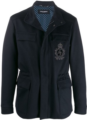 Dolce & Gabbana Embroidered-Badge Field Jacket