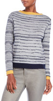 Shae Textured Stripe Boatneck Sweater