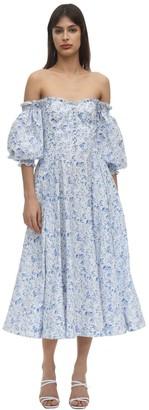 Bardot Shoulder Poplin Dress