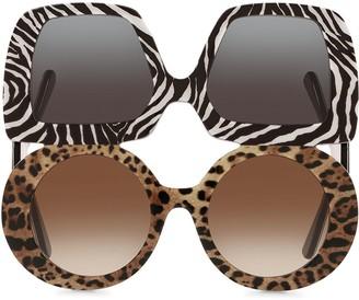 Dolce & Gabbana Eyewear Chunky Double Sunglasses