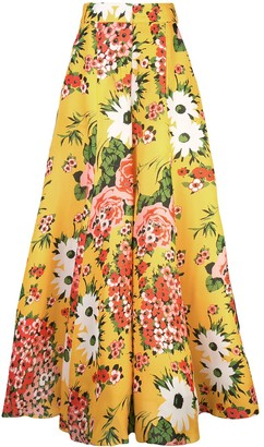 Carolina Herrera floral print flared trousers