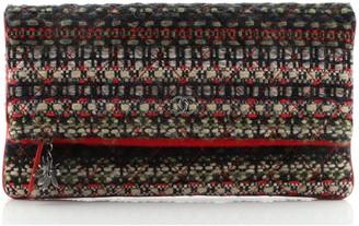Chanel Paris-Salzburg Edelweiss Clutch Quilted Tweed
