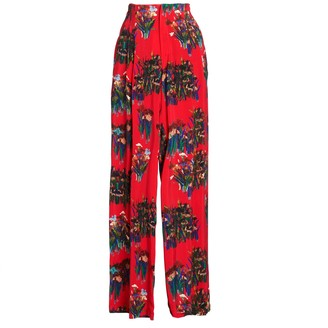 AILANTO Red Lilies Trousers