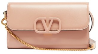 Valentino V-sling Leather Cross-body Bag - Nude