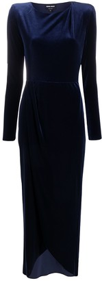 Giorgio Armani Velvet Look Evening Dress