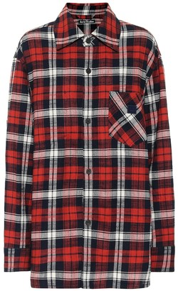 Acne Studios Checked cotton-flannel shirt